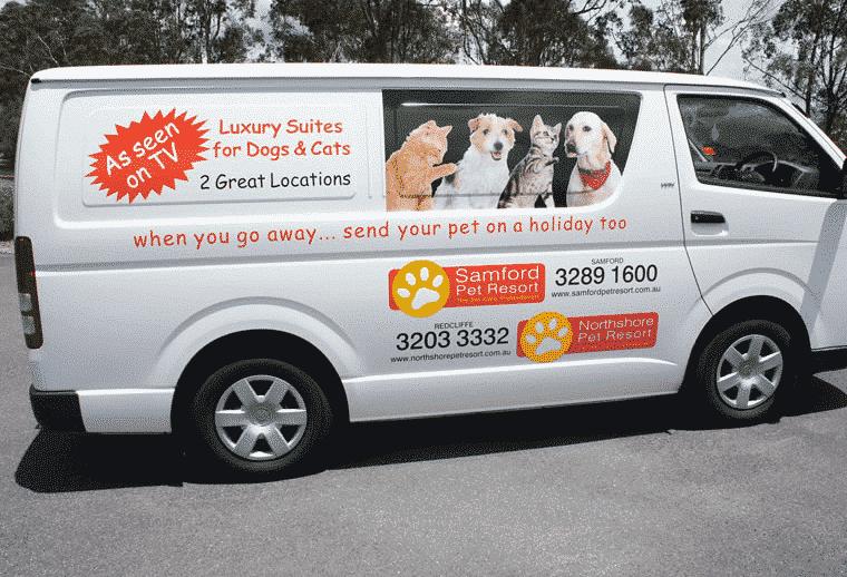 Northshore Pet Resort Pet Transport Service van