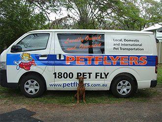 Petflyers Pet Transport Service van